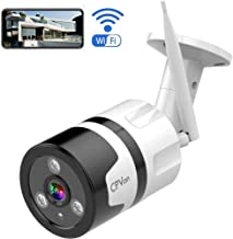 Outdoor Security Camera 1080P Wireless, WiFi Bullet Surveillance IP Camera Waterproof Security Smart Camera with Two Way Audio, Cloud Storage Motion Detection Night Vision Camera for Front Door Office