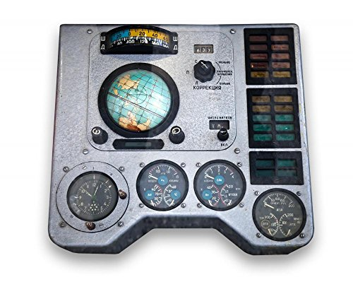 Wallmonkeys WM29313 Spaceship Control Panel Peel and Stick Wall Decals (24 in W x 19 in H), Medium