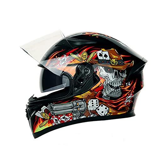 YUUWA ヘルメット バイクヘルメット 自転車ヘルメット シールド フルフェイスヘルメット フリップアップ 超軽量 耐衝撃 通気穴 頭守る 安全 通勤 通学 成人 おしゃれ type4 2XL