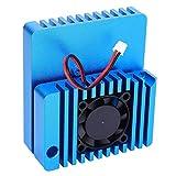 Jeanoko Accesorio de disipación de Calor de Carcasa de aleación de Aluminio Azul AC para NanoPi R2S Preciso para NanoPi R2S
