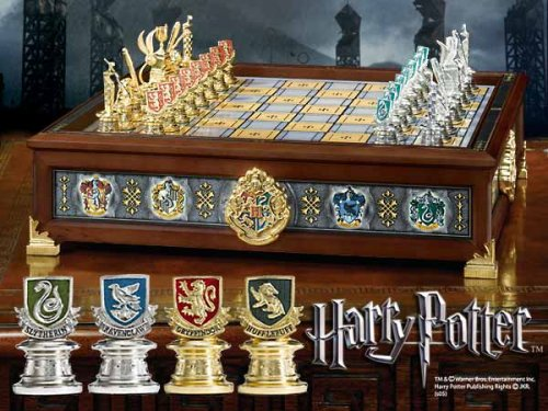 Harry Potter The Hogwarts Houses Quidditch Chess Set