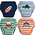 MOM & BAB Night Time Potty Training Pants   Most Absorbent   Water-Resistant Liner   Train Faster   Soft Cotton (Large)