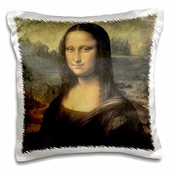 3D Rose Mona Lisa Vintage Art by Leonardo Da Vinci Design Pillowcase 16  x 16