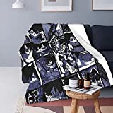 My Hero Academia Collage Anime Dabi Throw Blanket,Soft Flannel Warm Cozy,Suitable for Sofa Bed Couch All Seasons 60 x 50 inch