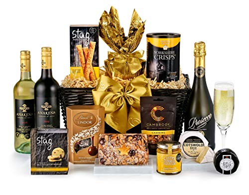 Snowdon Hamper With Prosecco - Hand Wrapped Gourmet Food Basket, in Gift Hamper Box
