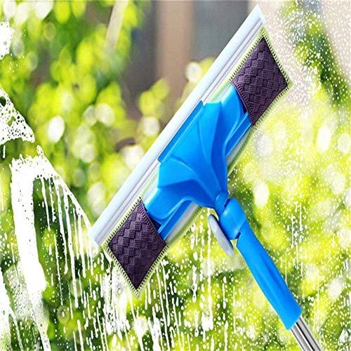 Dmqpp Glaswisser, Vloerwisser, RVS telescopische staaf, Multifunctionele reiniger Squeegee voor badkamer/raam Glas/Spiegel Reiniging