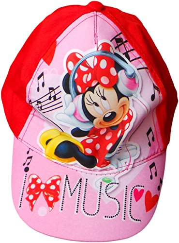 Disney Minnie Maus Cap - I Love Music - Rosa/Rot/Mehrfarbig - Minnie Maus Motiv