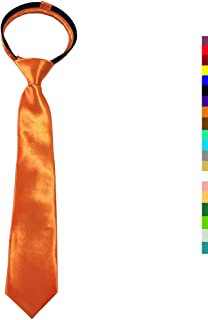 CANGRON Tie for Boy Toddler Tie Pre-Tied Satin Boys Tie with Giftbox