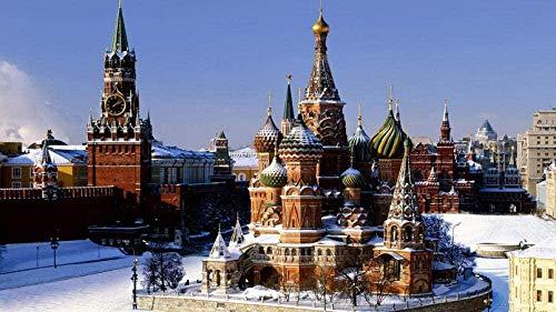 Puzzle de 1000 Piezas de Rompecabezas de Madera Rompecabezas Kremlin de Moscú Rompecabezas Sorpresa de cumpleaños Ruso