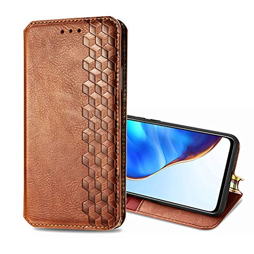 SHIEID Coque Compatible avec Vivo S9e, Étui pour Téléphone Pliable en Cuir,Fonction de Support Housse Cuir pour Vivo S9e-Marron