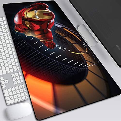Alfombrillas de ratón de Iron Man serie DC para gaming, mesa de oficina, base de goma antideslizante evita que el ratón se deslice o mueva AA~ (color A, tamaño: 80 x 30 x 0,2 cm)