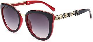 LUKEEXIN Vintage Flower Leg UV Protection Lady's Sunglasses for Women Men (Color : Red)