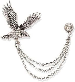 Lapel Fans Pins Men Gifts Cross Silver Animal Lovers Brooch Women Eagle Flying Popular Novelty Beauty Party Girls Woman Girl Design Style Womans Styling