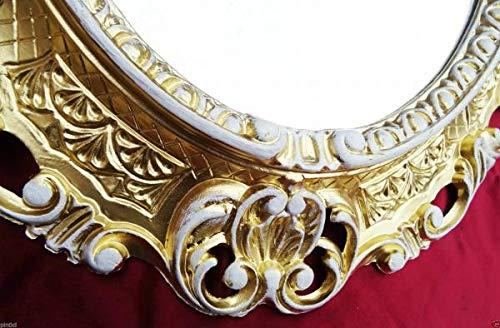 Artissimo fotolijstje ovaal goud-wit retro barok, spiegellijst, 45 x 37 antiek fotolijst 3045