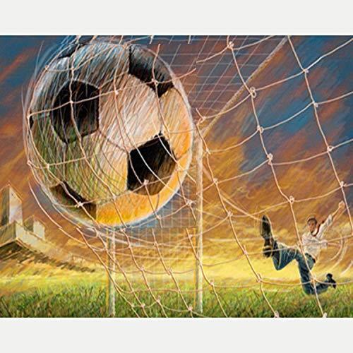 Voetbal Versnelt In Het Internet Schilderen Op Nummer Kits Voor Volwassenen Kinderen Digitaal Schilderen Linnen Canvas Op Nummer Kits Op Canvas,16x20inch