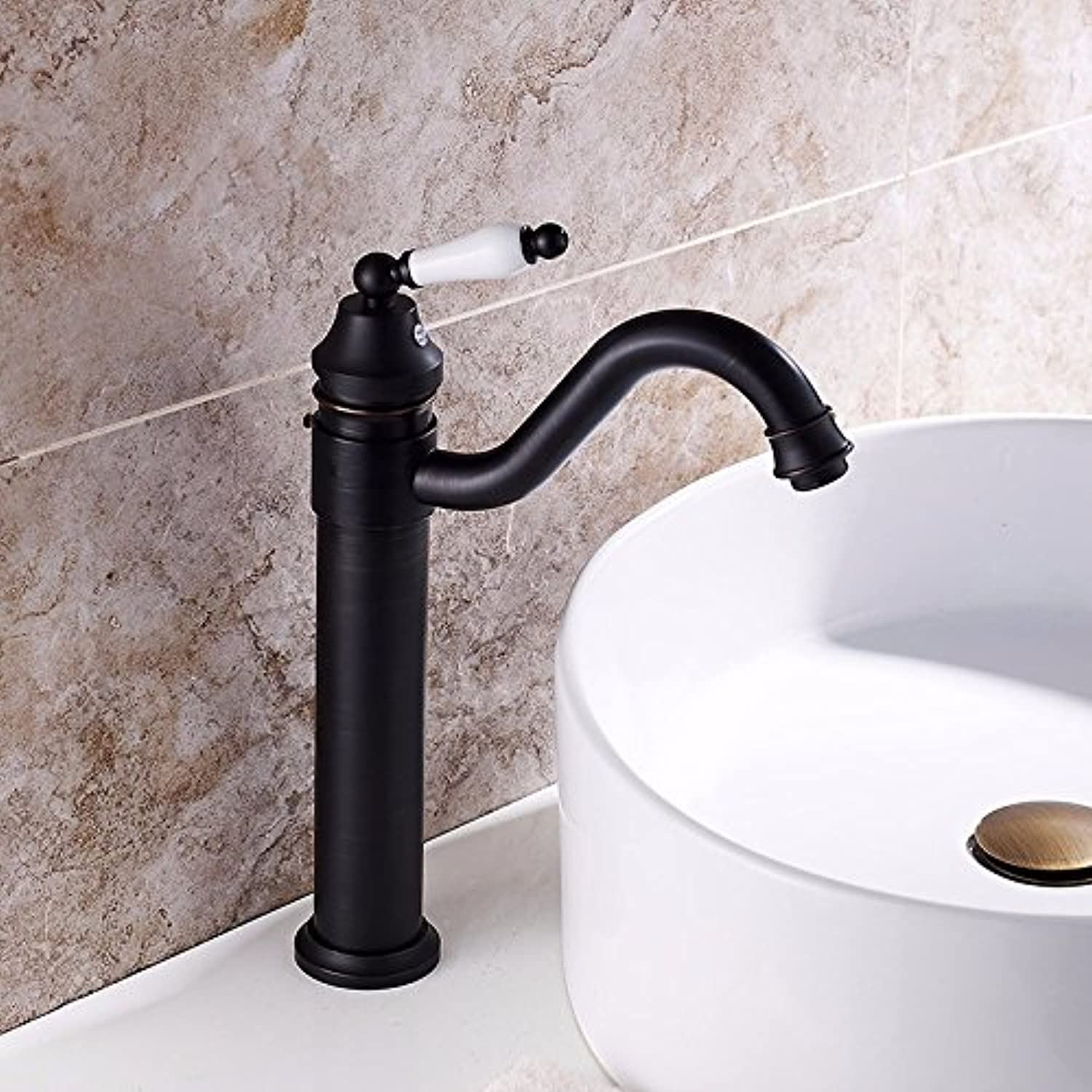 Hlluya Professional Sink Mixer Tap Kitchen Faucet Black faucet sink hot and cold faucets antique table basin mixer