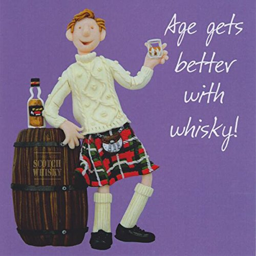 Age Gets Better With Whisky Birthday Card One Lump or Two Greeting Cards