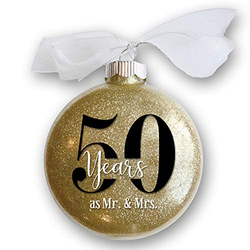Firefly Wishes 50th Wedding Anniversary Christmas Ornament, Gift for Married Couple