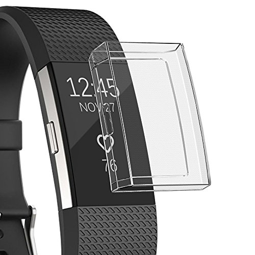 Für Fitbit Charge 2 Schutzhülle,JSxhisxnuid Ultra Schlank Dünn TPU Transparent Weiche Haut hülle Abdeckung Case Cover Für Fitbit Charge 2 (klar)