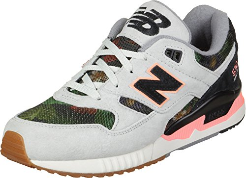 New Balance 530 Women's Running, Size 5, Color Grey/Black/Coral