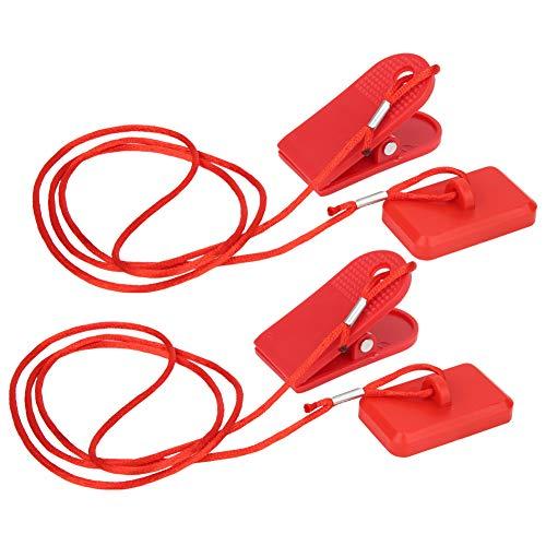 Keenso Sicherheitsschalter für Laufmaschinen, 2-teiliger Universal-Laufband-Sicherheitsschlüssel für magnetische Sicherheitsschalter