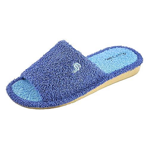 Garzon P410.130 - Zapatilla CASA para: Mujer Verano Slippers Pantuflas Comodo Parquet Textil Talla: 39