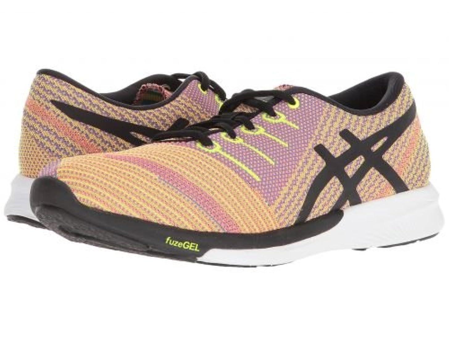 アニメーション公直立ASICS(アシックス) レディース 女性用 シューズ 靴 スニーカー 運動靴 fuzeX Knit - Flash Coral/Black/Safety Yellow 6 B - Medium [並行輸入品]