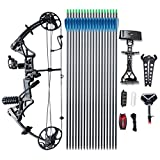 Compound Bow TOPOINT Archery M1 Package, 19'-30' Draw Length,19-70Lbs Draw Weight,320fps IBO Limbs...