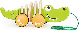 Hape E0348 Walk-A-Long Crocodile Push & Pull Toy - Green