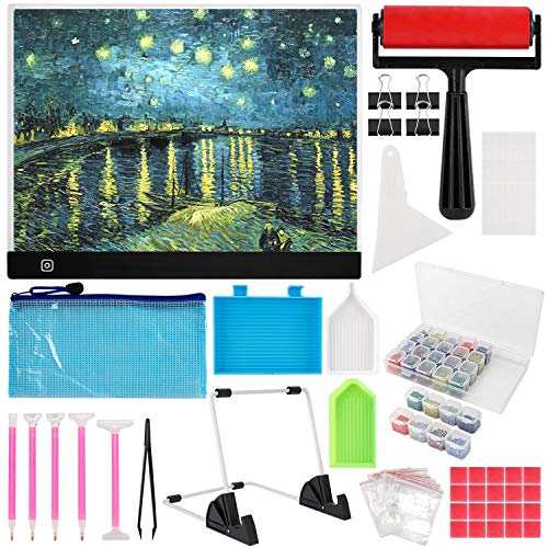 skyyue B4 Diamond Painting Led Light Pad Kits,DIY Dimmable Light Brightness Table,Portable Led Tracing Light Board,B4 Diamond Painting Pads,Best for Partial & Full Drill Drill Diamond Painting.