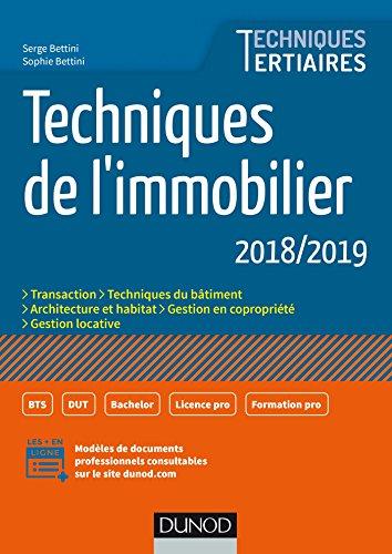 Techniques de l'immobilier - 2018/2019