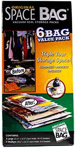 Original Space Bag Vacuum Seal Storage Packs 6 Bag Value Pack product image
