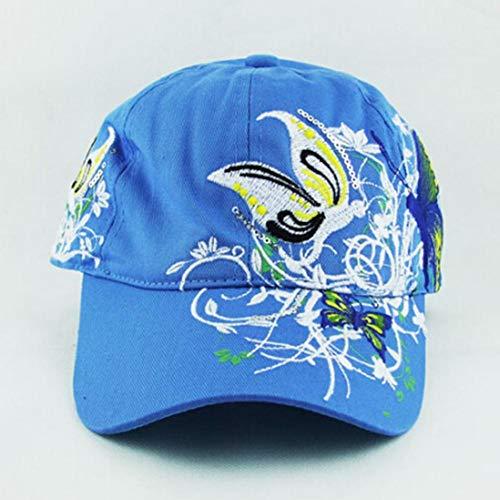 jianghui133 Gorras de béisbol Mariposas y Bordados de Flores de ...