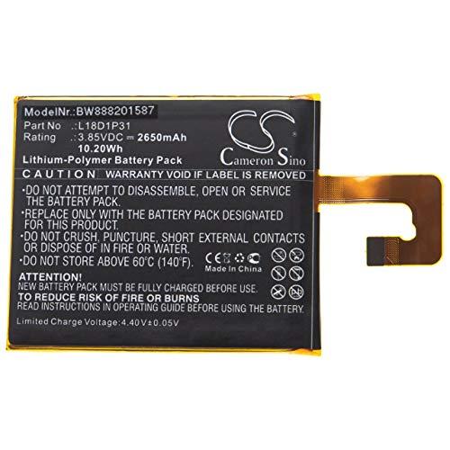vhbw batería reemplaza Lenovo L18D1P31 para Tablet (2650mAh, 3,85V, polímero de Litio)