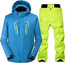 Men's One Pieces Ski Suits Waterproof Ski Jackets Pants Set Windproof Snowboard Jakets Warm Breathable Snowsuit