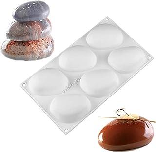 UG LAND INDIA 6 Cavity Stone Shape Silicone Cake Mold Dessert Candy Decorating Kitchen Tools Baking Moulds Pastry Decorati...