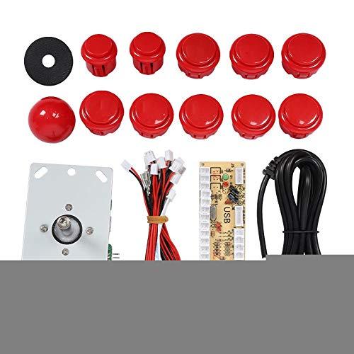 NITRIP ABS 30/24 Botón Iluminado 5P Rocker Single Kit Amarillo USB Core Board Arcade Kit