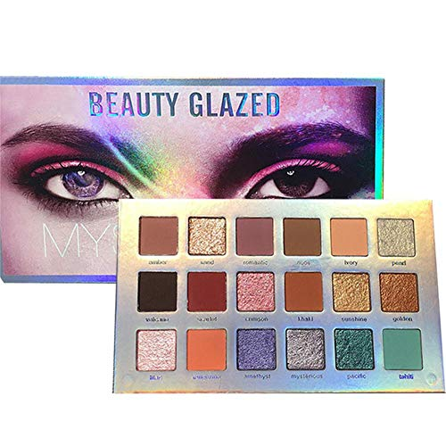 Mysteriöse Make-up-Palette, 18 Farben Ultrafeinpigmentiertes, gepresstes Mercury Retrograde...