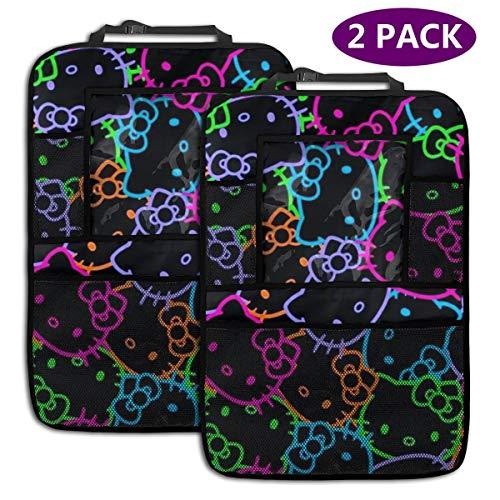 TBLHM Lot de 2 Sacs de Rangement colorés pour siège arrière de Voiture Motif tête de Hello Kitty