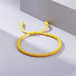 Anxiety Bracelet Red Rope Lucky Weave Bracelet Women Men Hand-Knitted Stretch Charm Tibetan Braided Bracelets Friendship B...