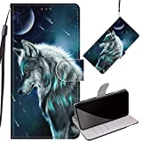 Yiizy Premium Leather Cover for ZTE Blade V10 Case, Wolf