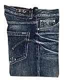 DONDUP Jeans Uomo Vita Bassa Bottoni con Usure UP092 A007U Lucky 100% Cotone Made in Italy (31)