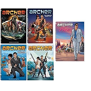 Archer Complete Series Seasons 1-5 Set