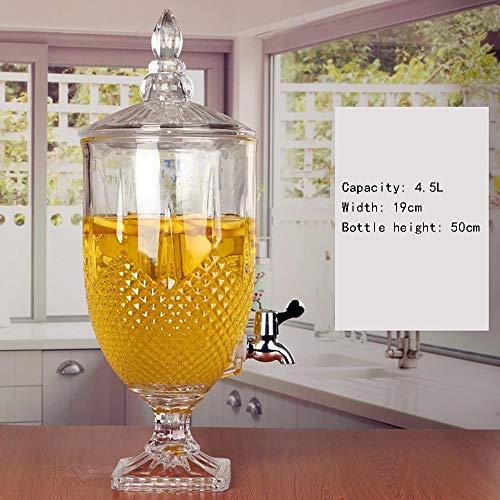 MS- Tarros sellados de Vidrio Latas de conservas, Dispensadores de Bebidas, con grifos sin Fugas, Cristalería, Fiestas, Bodas, Comidas, Eventos (Size : G)