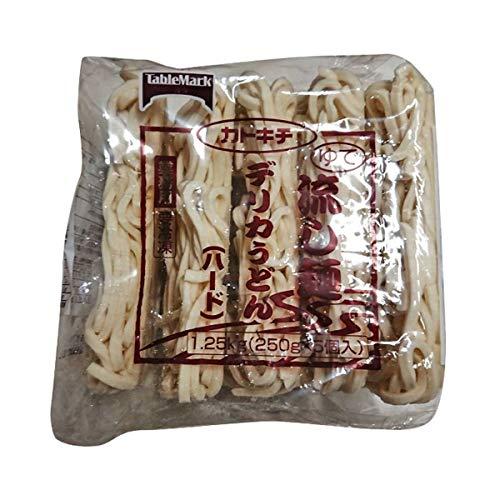 【冷凍】テーブルマーク 流し麺 デリカうどん (ハード) 250g×5食入 業務用 冷凍麺 うどん 5人前