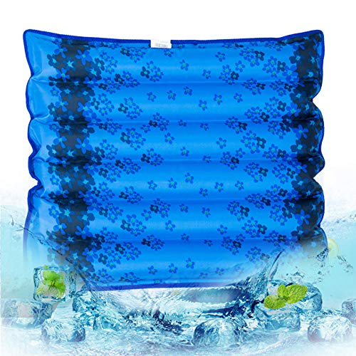 SONGVEN Washable Seat Cushion 18.9 x 18.9 inches Water-Filled Chair Cushion Waterproof Seat Pads Relieves Back Pain Car Seat Cushion Comfort Car Seat Pad Soft Chair Pad