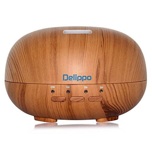 Delippo Cool Mist Humidifier 300ml Wood Grain Essential Oil Diffuser