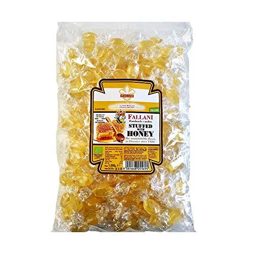 FALLANI BONBONS bonbons au miel bio, 1Kg candy bag, bonbons au miel de manuka, production italienne, produits sans gluten, bonbons bio, bonbons durs avec emballage transparent