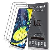 LK Compatible con Samsung Galaxy A80 Protector de Pantalla,3 Pack,9H Dureza Cristal Templado,Vidrio Templado Screen Protector