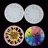 diy レジン型 時計 アゲートスライス シリコンモールド レジン 2個 uvレジン 型 樹脂粘土 道具 (時計)